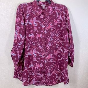 White Stag Top Blouse 2X 18W/20W Burgundy Pink